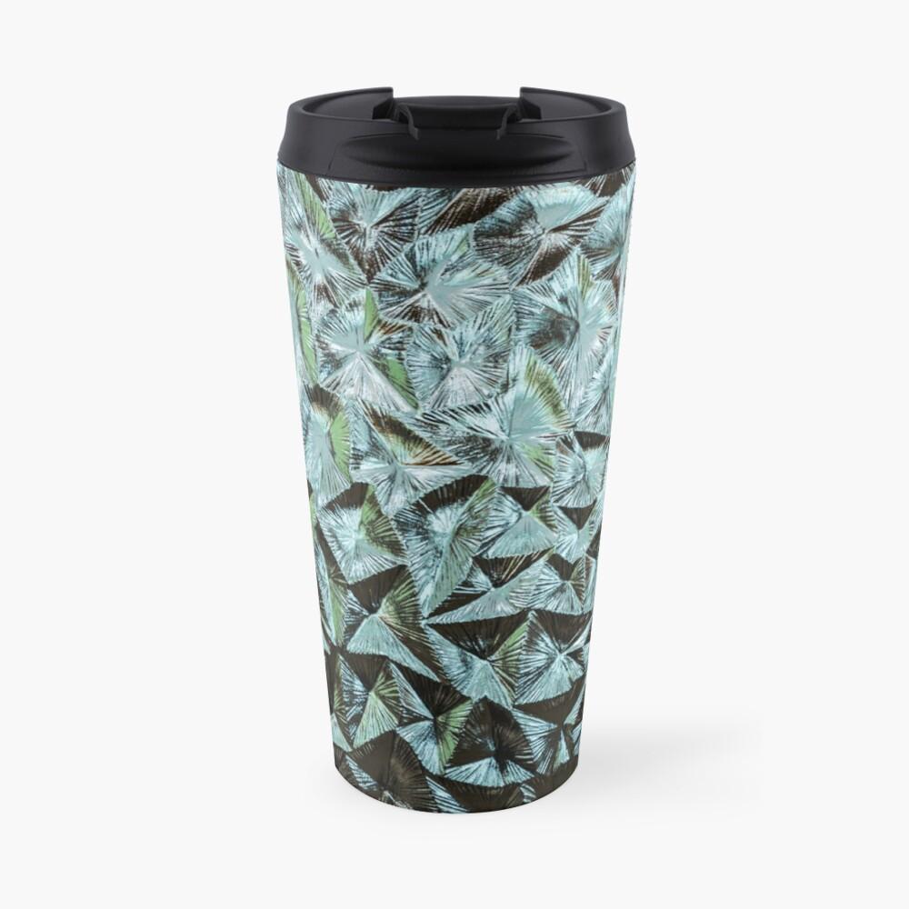 Fluted glass pattern retro Travel Mug