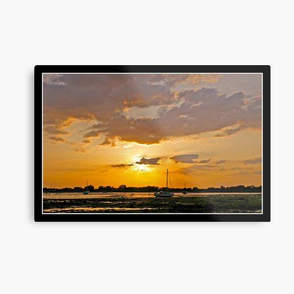 Sunset over Emsworth Metal Print