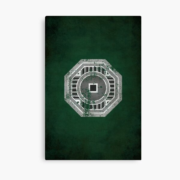 Earth Empire Logo · Distressed Canvas Print