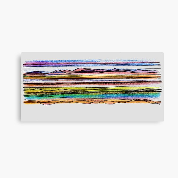 Bay Lines  Canvas Print