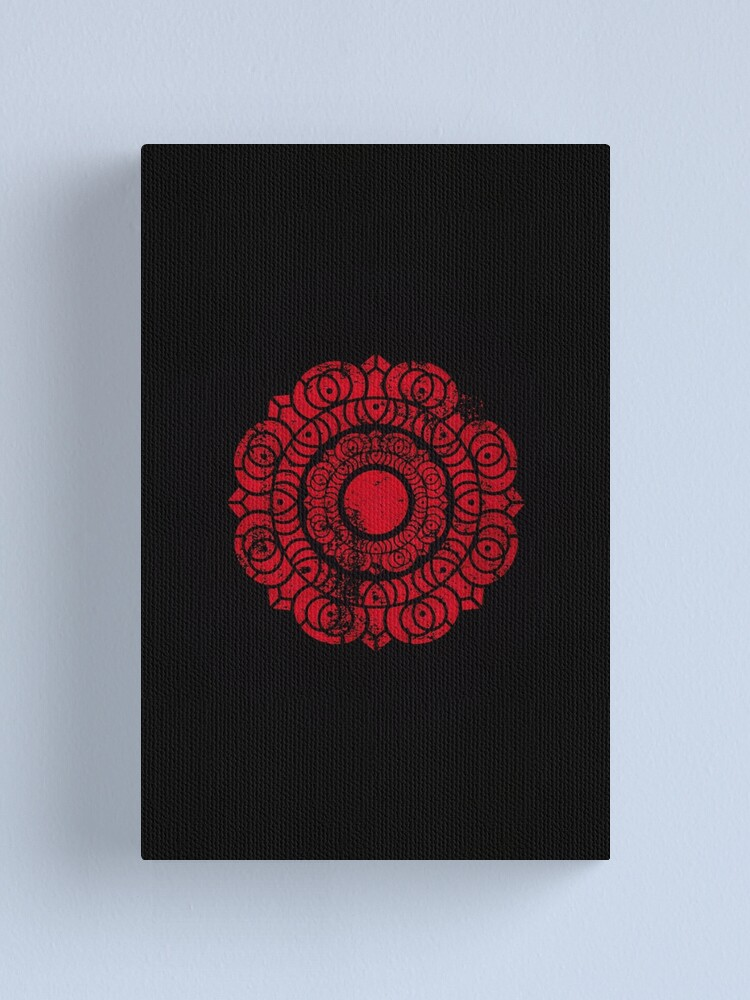 Alternate view of Order of the Red Lotus Logo · Distressed Canvas Print