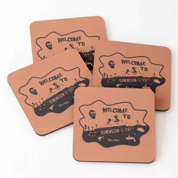 Welcome to Dimension C - 137 Coasters (Set of 4)