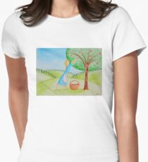 Apple harvest Womens Fitted T-Shirt