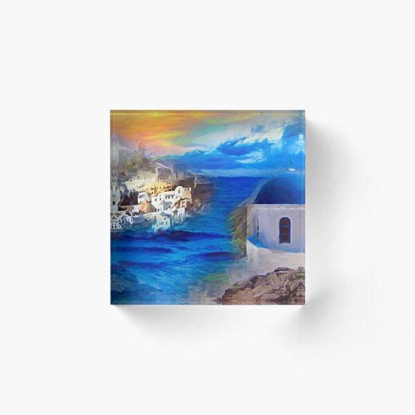 Santorini Dreamscape Acrylblock