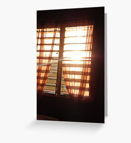 WINDOW SUN Greeting Card