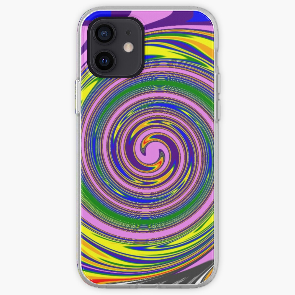 #Rainbow, #creativity, #abstract, #vortex, bright, design, art, nature, psychedelic  iPhone Case & Cover