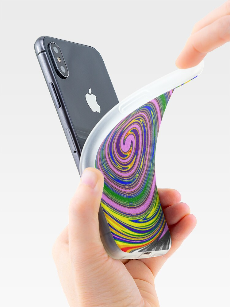 Alternate view of #Rainbow, #creativity, #abstract, #vortex, bright, design, art, nature, psychedelic  iPhone Case & Cover