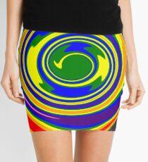 #Rainbow, #creativity, #abstract, #vortex, bright, design, art, nature, psychedelic  Mini Skirt