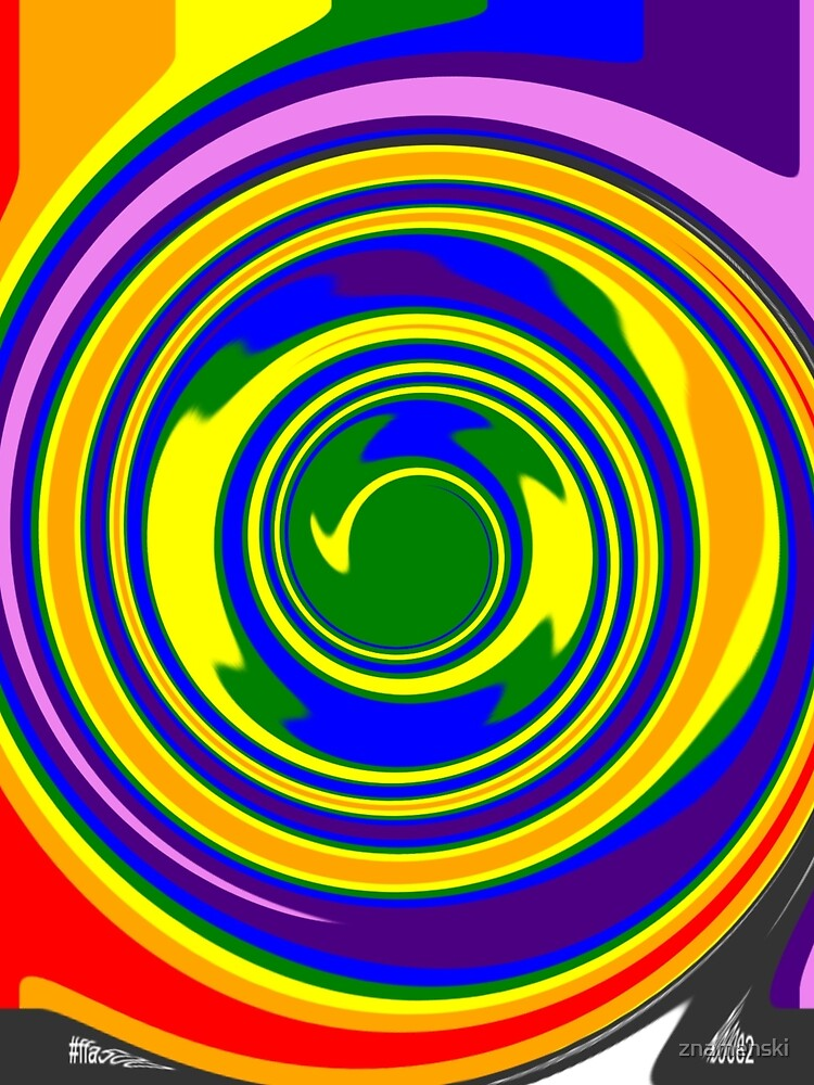 #Rainbow, #creativity, #abstract, #vortex, bright, design, art, nature, psychedelic  by znamenski