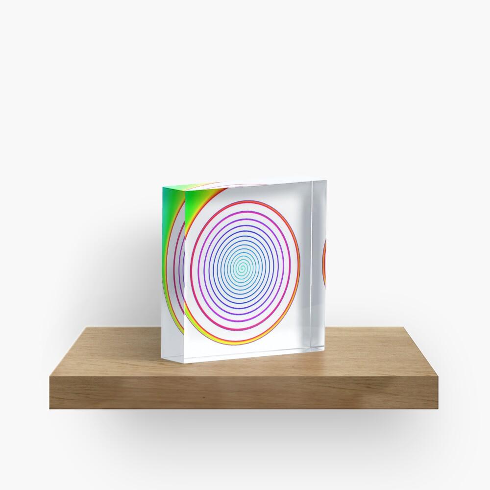 #Rainbow, #creativity, #abstract, #vortex, bright, design, art, nature, psychedelic  Acrylic Block