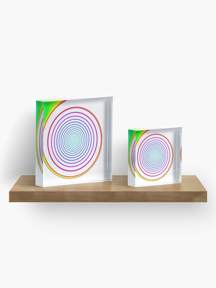 Alternate view of #Rainbow, #creativity, #abstract, #vortex, bright, design, art, nature, psychedelic  Acrylic Block