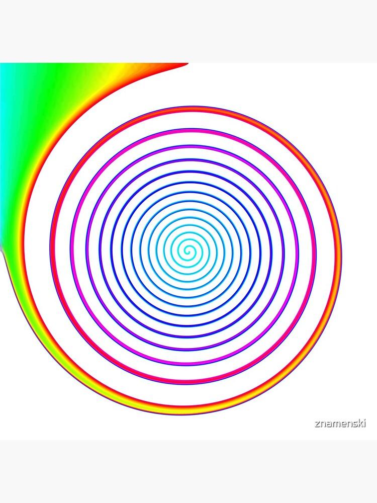 #Rainbow, #creativity, #abstract, #vortex, bright, design, art, nature, psychedelic  by znamenski
