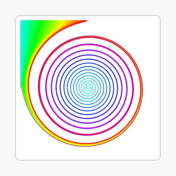 #Rainbow, #creativity, #abstract, #vortex, bright, design, art, nature, psychedelic  Sticker