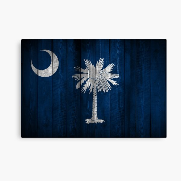 South Carolina State Flag (wood look) Canvas Print