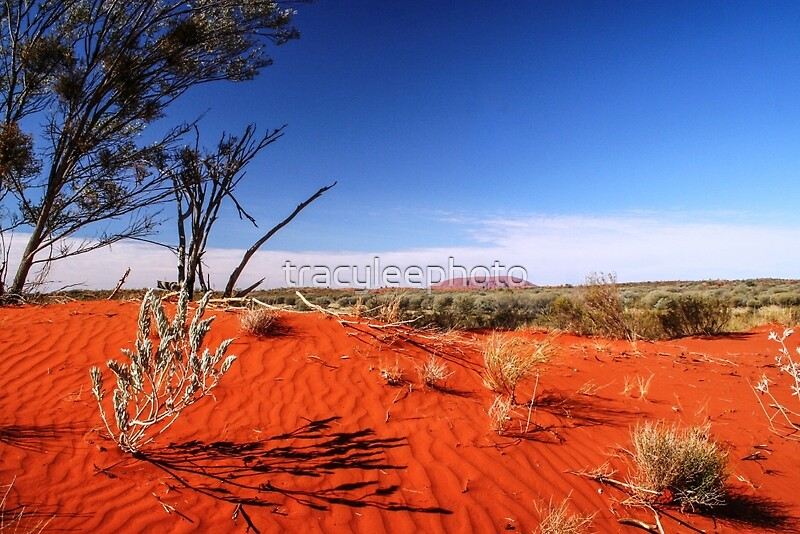 Quot Red Desert Distant Uluru Quot By Tracyleephoto Redbubble
