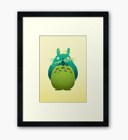 Totoro's Day Out Framed Print