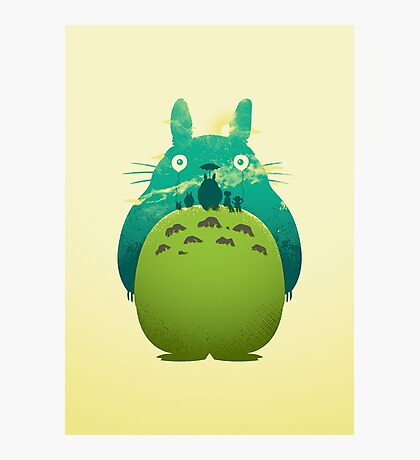 Totoro's Day Out Photographic Print