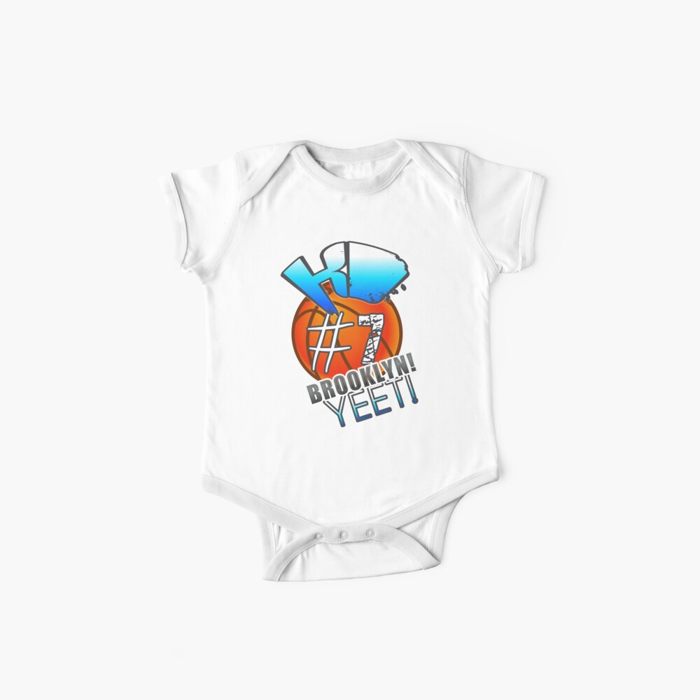 KD # 7 Brooklyn Yeet Basketball Graphic Jersey Saison 2019-2020 Baby Body