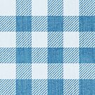 Blue Jean Denim Gingham Lovely Country Home Decor Pattern by NonDecafArt