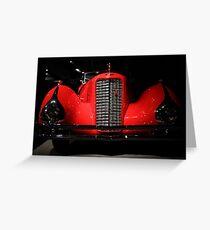 Red Cadillac Greeting Card