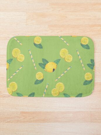 lemonade_green Bath Mat
