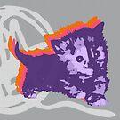 Hier Kitty, Kitty - Multicolor | Kätzchen, Katze, Garn, Niedlich, Süß, Liebenswert, Adorbiert, Lila, Ultraviolett, Orange, Sorbett, Lavendel, Rosa, Kaugummi, Grau, Asche, Holzkohle von CanisPicta