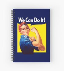 Rosie The Riveter - We Can Do It Spiral Notebook