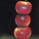 stacked apples by ria hills