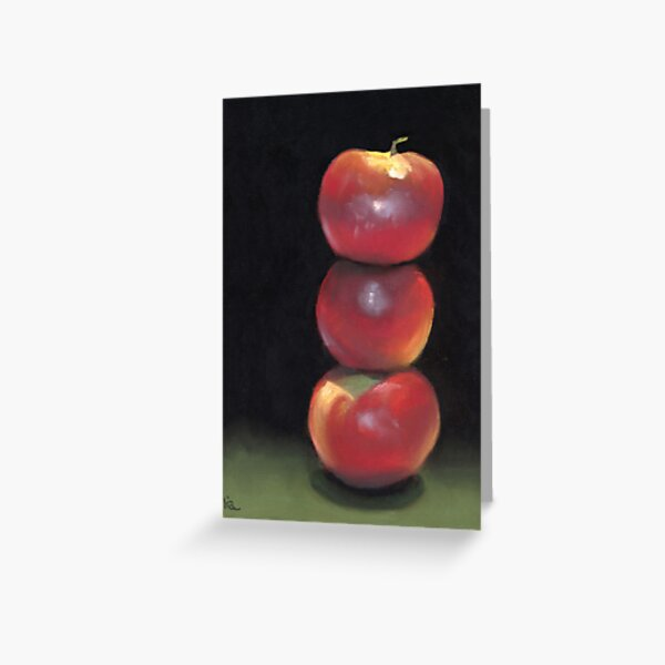stacked apples Greeting Card