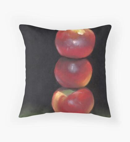 stacked apples Throw Pillow