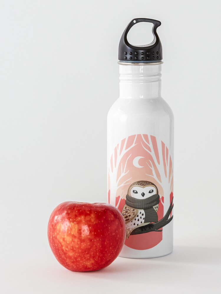 Alternate view of Winter Owl Water Bottle
