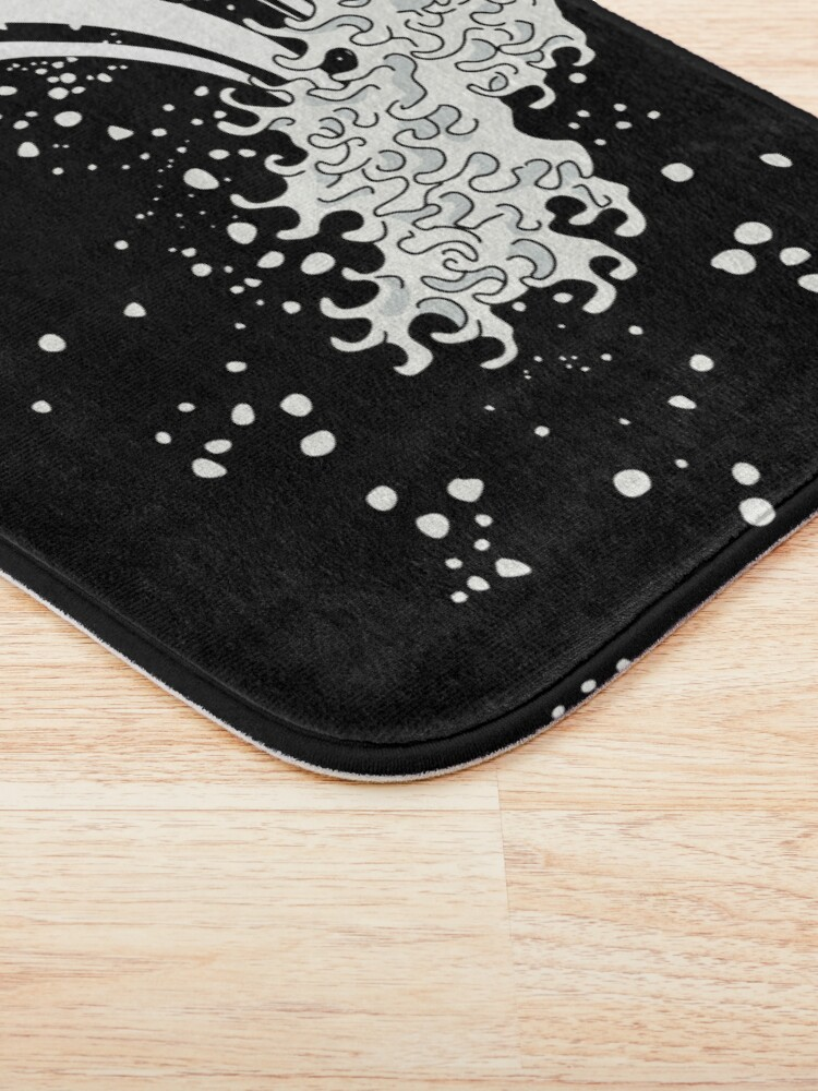 Alternate view of Black and White Great Wave Bath Mat