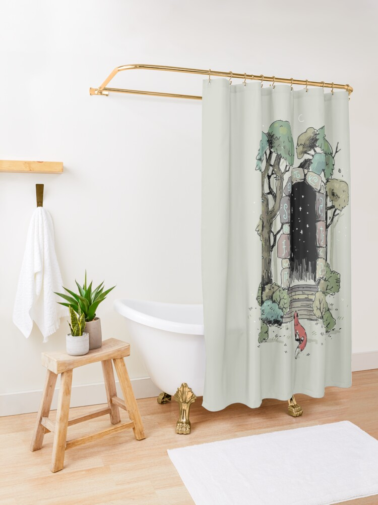 Alternate view of Forest Gate Shower Curtain