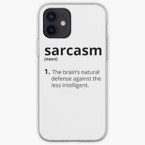 Sarcasme Coque souple iPhone