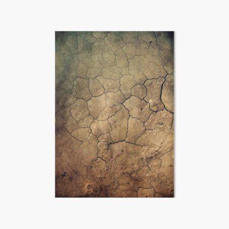 Cracked beautiful brown sepia terrain Galeriedruck