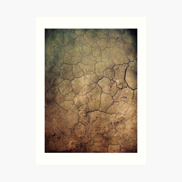 Cracked beautiful brown sepia terrain Kunstdruck