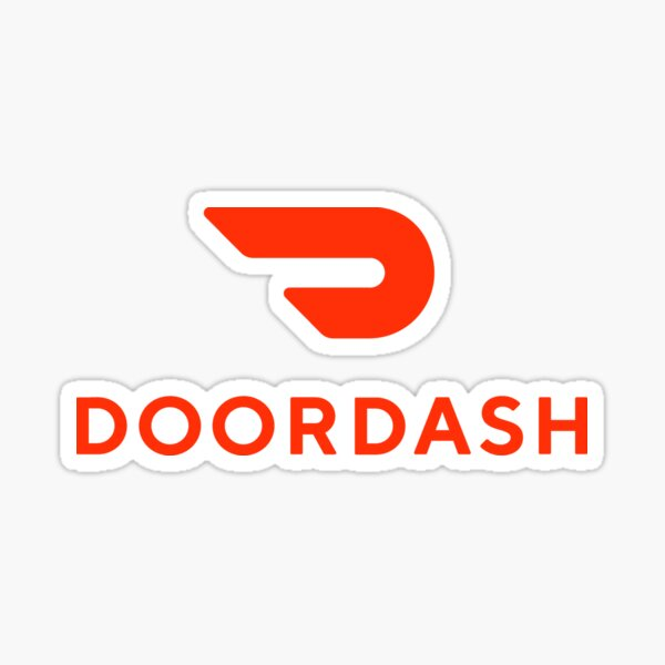 DoorDash Delivery Logo Sticker