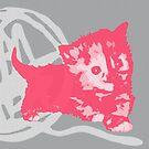 Hier Kitty, Kitty - Pink / Grau | Kätzchen, Katze, Garn, Niedlich, Süß, Adorbs, Liebenswert, Rosa, Kaugummi, Grau, Asche, Holzkohle von CanisPicta