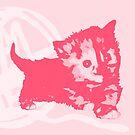 Hier Kitty, Kitty - Pastellrosa | Kätzchen, Katze, Garn, Niedlich, Süß, Adorbs, Liebenswert, Rosa, Bubblegum von CanisPicta