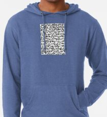 Graphic Scribble Lightweight Hoodie