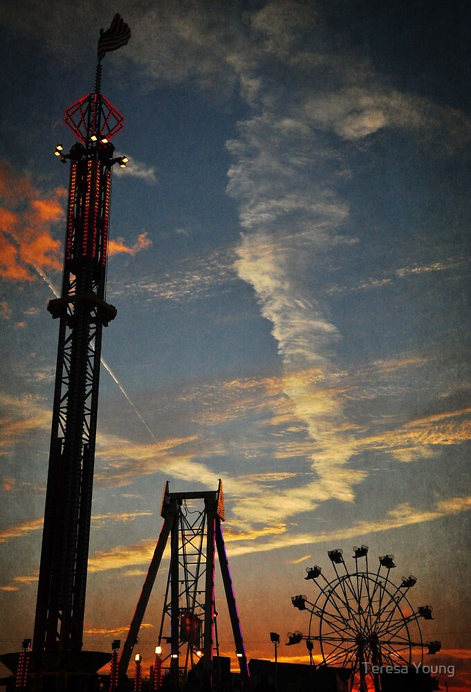 Fair at Sunset by Teresa Young