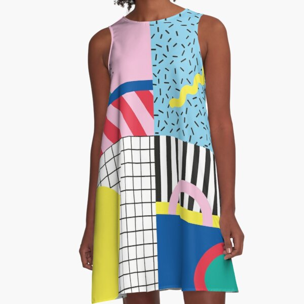 Memphis party A-Line Dress