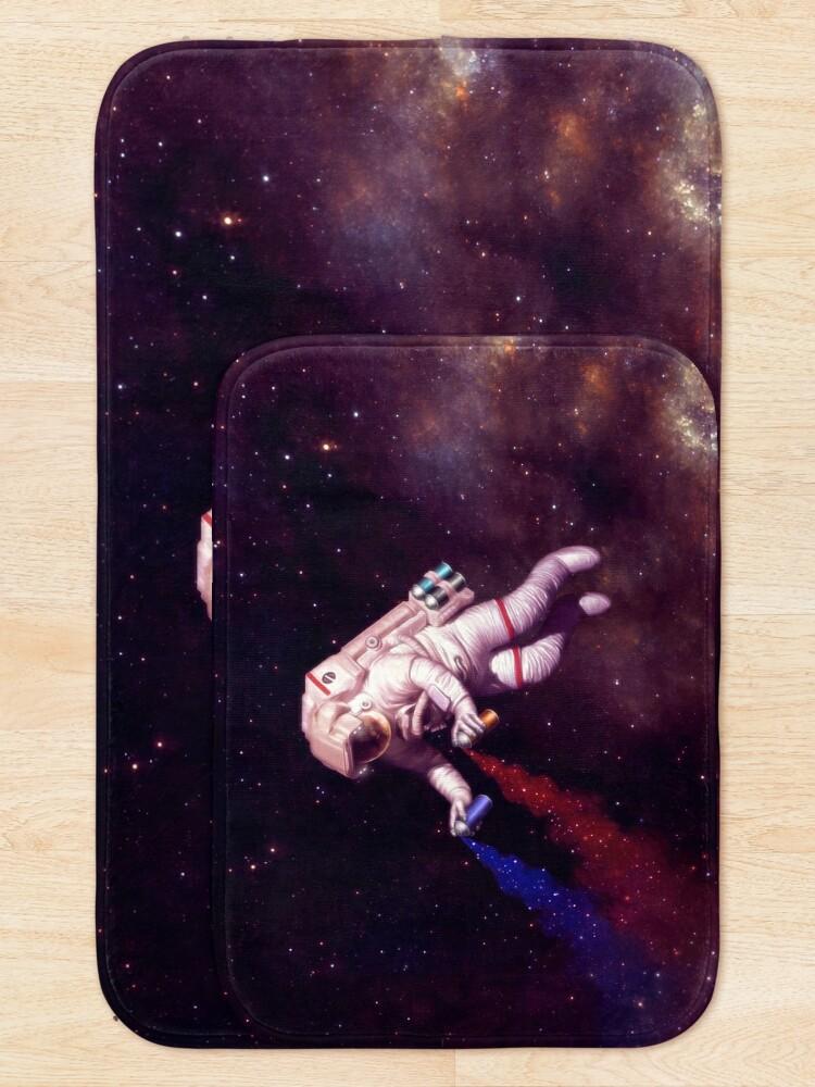Alternate view of Shooting Stars - the astronaut artist Bath Mat