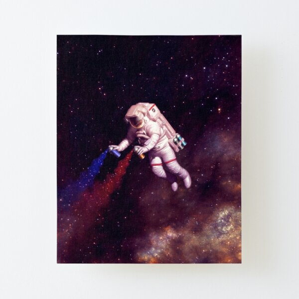 Shooting Stars - the astronaut artist Canvas Mounted Print