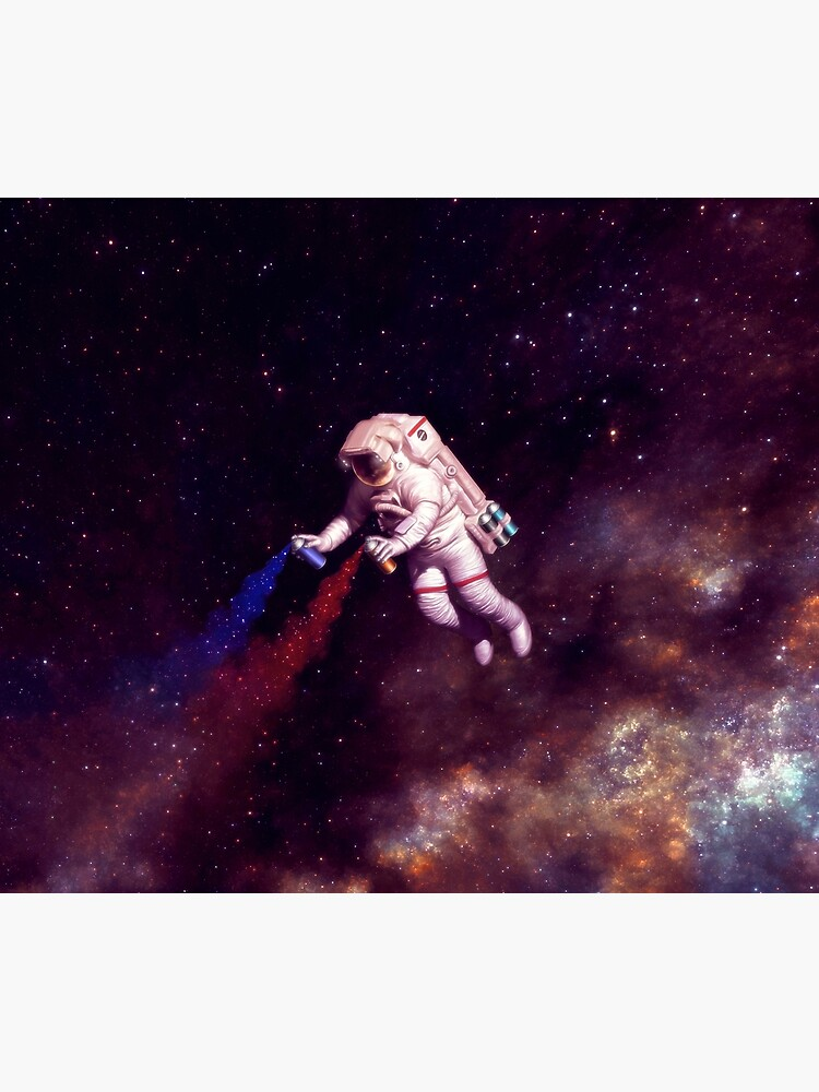 Shooting Stars - the astronaut artist by carlostato