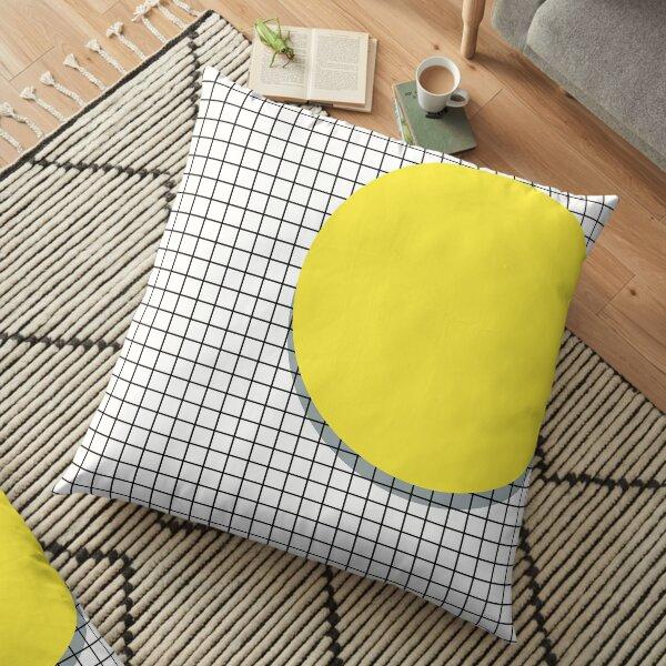 Memphis Yellow Floor Pillow