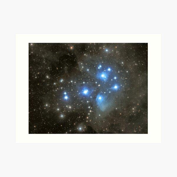 The Pleiades Cluster (M45)   Art Print