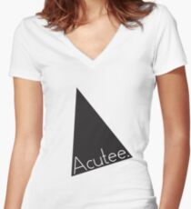Acutee Women's Fitted V-Neck T-Shirt