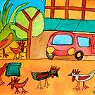 San Miguel Chickens Zionart Zion Levy Stewart by zionart