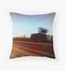Spokane in the blurr. Throw Pillow